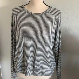 Sundry Long Sleeve Striped Top